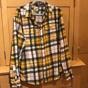 Men's flannel with plain pattern
